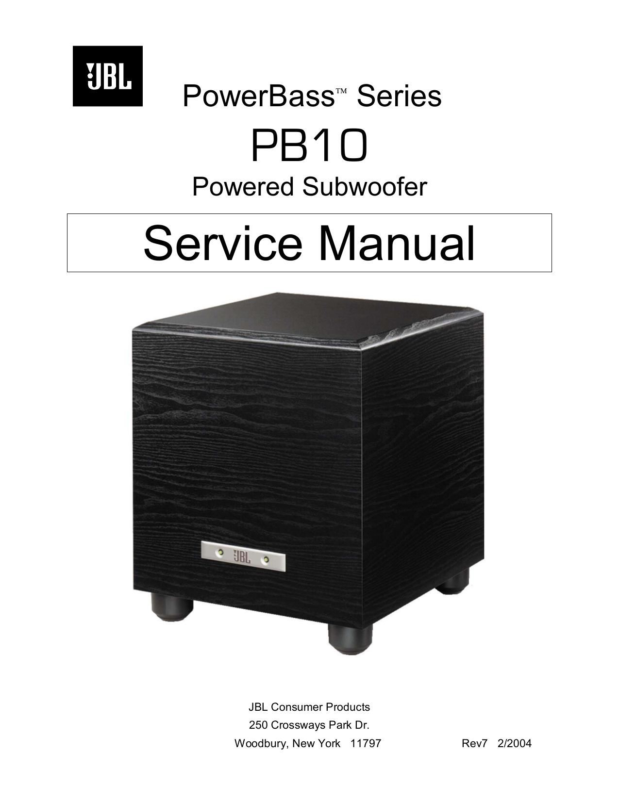 download free pdf for jbl pb10 subwoofer manual rh umlib com jbl pb10 subwoofer specs JBL Sub 160 Service Manual